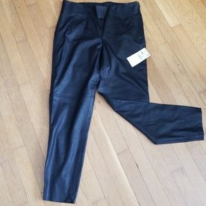Zara Basic faux Leather Leggings